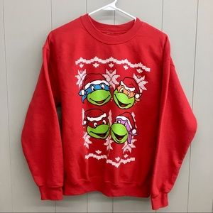 Christmas Sweatshirt Teenage Mutant Ninja Turtles
